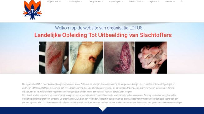 Website Organisatie LOTUS