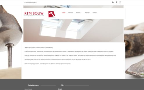 Website RTM Bouw