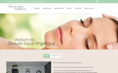 Website beautique Angelique